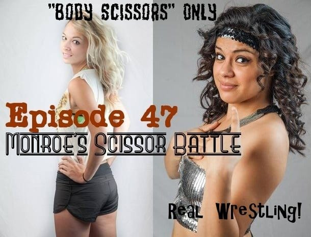 Ashley Wildcat vs Bella Mamacita - Monroe's Scissor Battle - Real Competitive Women's Wrestling