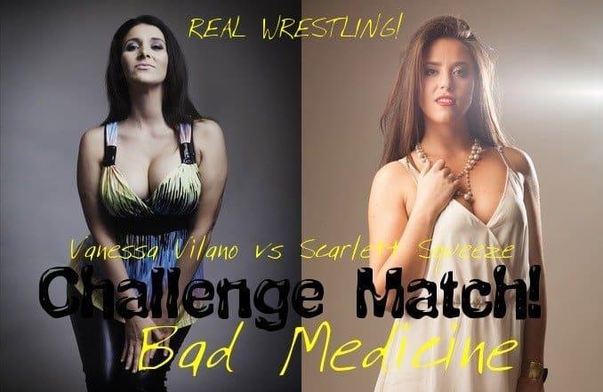 Scarlett Squeeze vs Vanessa Vilano - Women Wrestling - 2015