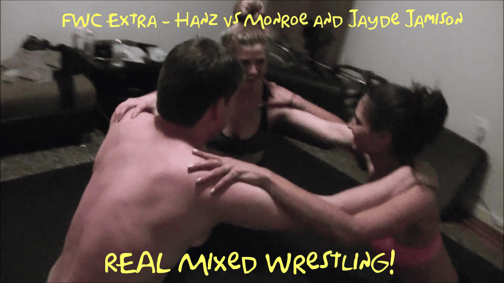 FWC Extra – Hanz vs Monroe and Jayde Jamison – REAL MIXED WRESTLING!