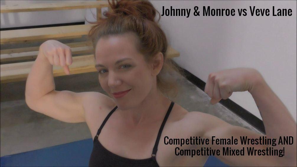 Johnny Ringo and Monroe Jamison vs Veve Lane - Mixed Wrestling