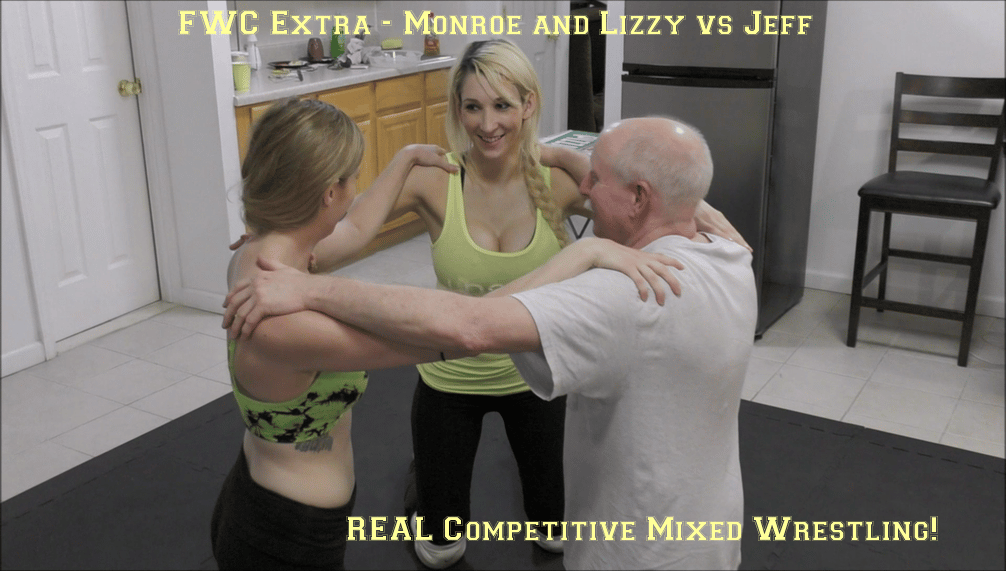 FWC Extra – Monroe Jamison and Lizzy Lizz vs Jeff – REAL Competitive Mixed Wrestling!