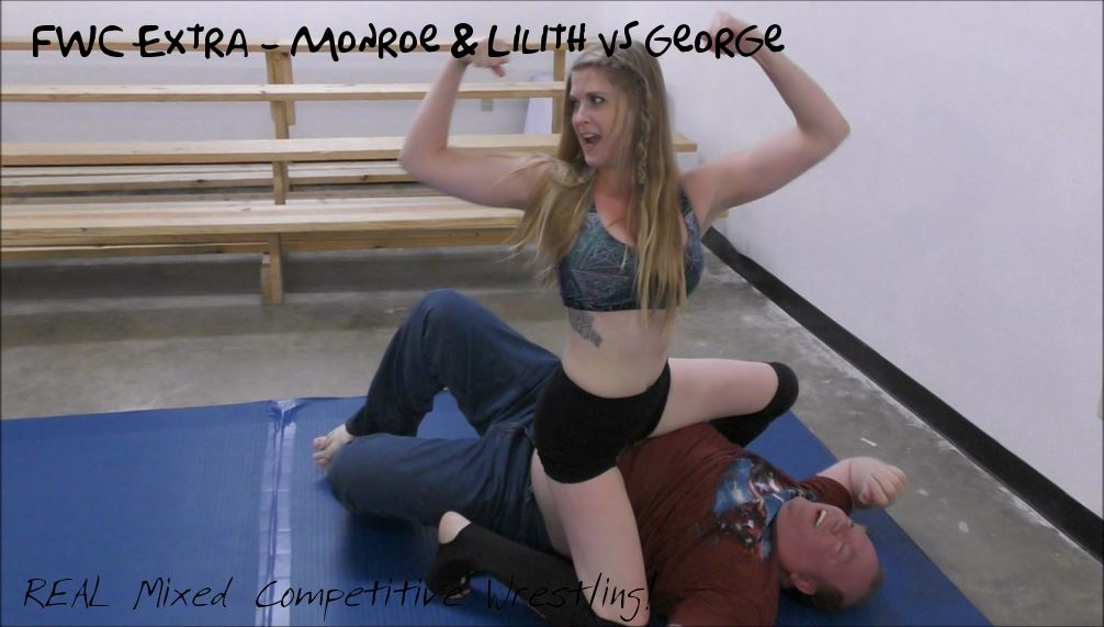 FWC Extra – Monroe Jamison and Lilith Fire vs George – REAL Competitive Mixed Wrestling!