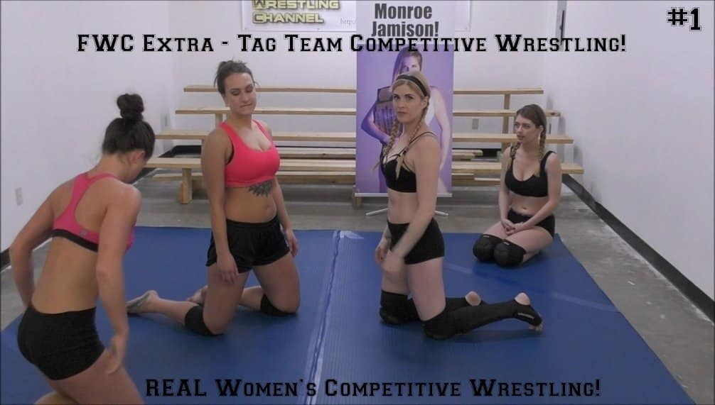 Tag Team Wrestling - Remy Rush and Scarlett Squeeze vs Callisto Strike and Monroe Jamison - 2017