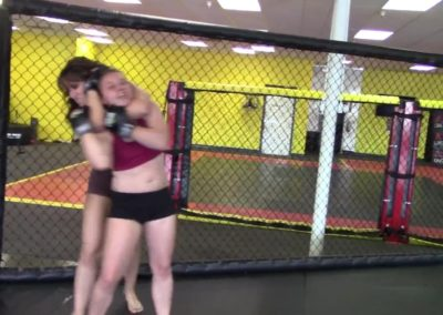 Rear Naked Choke - Allie Parker vs Sky Storm - (REAL) - MMA Girl Fighters - UWW