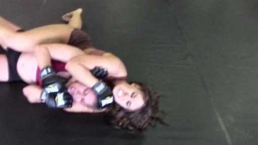Female Rear Naked Choke - Allie Parker vs Sky Storm - (REAL) - MMA Girl Fighters - UWW