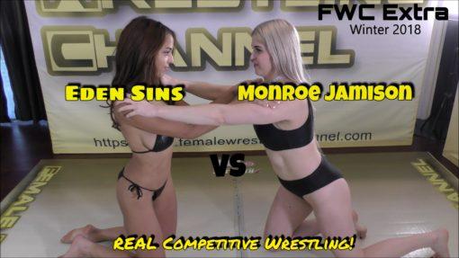 Eden Sins vs Monroe Jamison - (REAL) - Competitive Female Wrestling - 2018