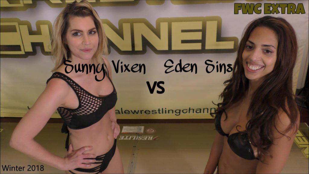 Best Friends Wrestling - Eden Sins vs Sunny Vixen - Real Female Wrestling! - 2018