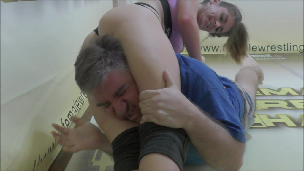 Frank vs Callisto Strike and Monroe Jamison - #1 - Mixed Wrestling - Headscissors - 2018
