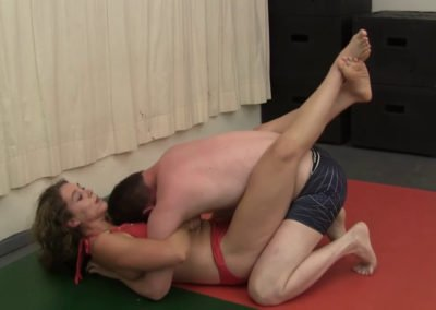 Bodyscissors - Hanz Vanderkill vs Sable - Competitive Mixed Wrestling