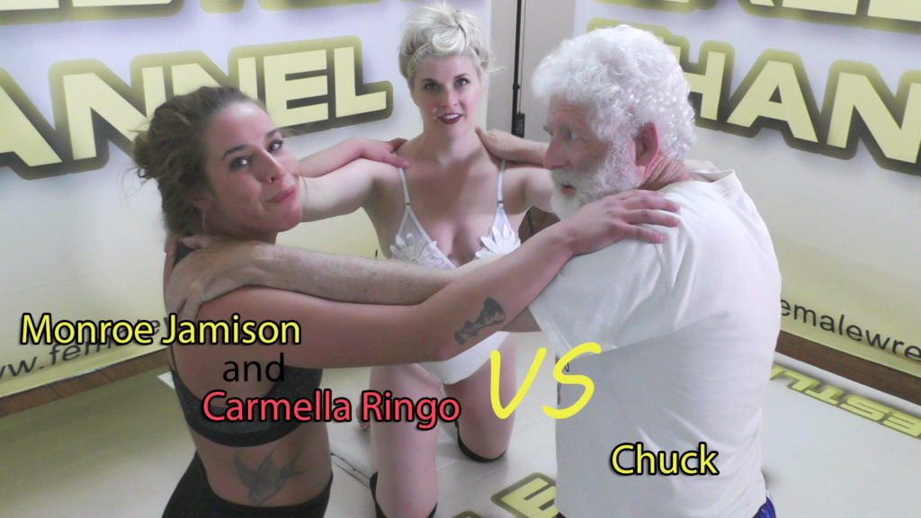 Carmella Ringo and Monroe Jamison vs Chuck - Mixed Wrestling - 2019