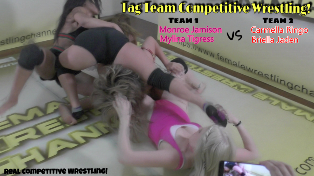Briella Jaden and Carmella Ringo vs Monroe Jamison and Mylina Tigress - Competitive Tag Team Wrestling - 2019