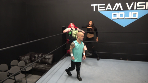 Enigma and Kaci Lennox vs Kathy Owens - 2 on 1 Intergender Pro Wrestling