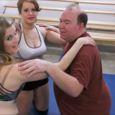 George vs Lilith Fire and Monroe Jamison - Mixed Wrestling - 2016