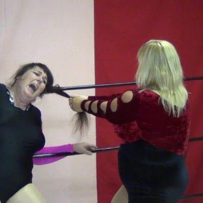 Hairpulling - Leilani Kai vs Diana Von Hoffman - Women's Pro Wrestling!
