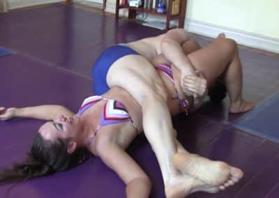 Bodyscissors - Bambi Buttons vs Hanz Vanderkill - Mixed Wrestling - (REAL)