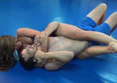 Bodyscissors - Marvin vs Rita - Mixed Wrestling Planet